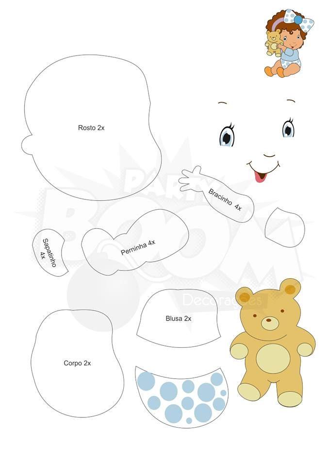 A Turma da Moranguinho baby com moldes