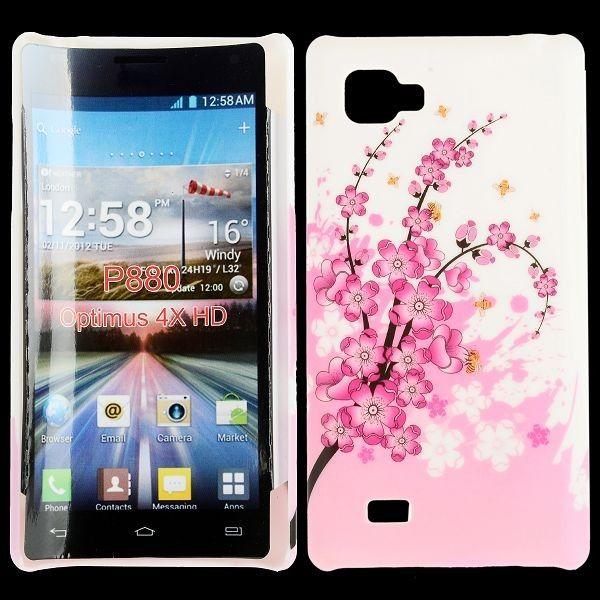 Valentine (Pinkki Kukkakimppu) LG Optimus 4X HD Suojakuori
