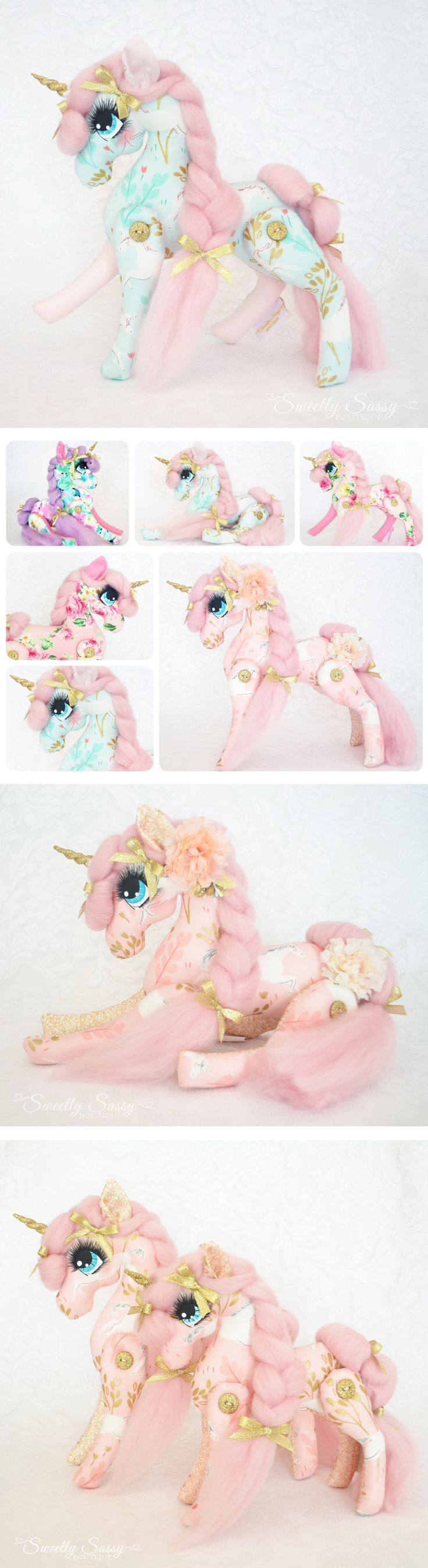 Bespoke Whimsical Unicorn Doll