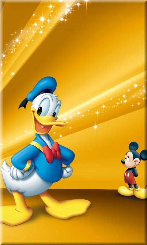 disney duck and mouse mobile phone wallpapers 50's