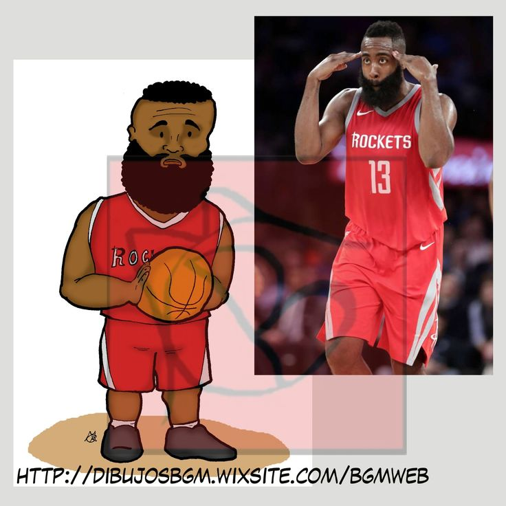 James Hardem, Rockets, NBA, baloncesto, caricatura