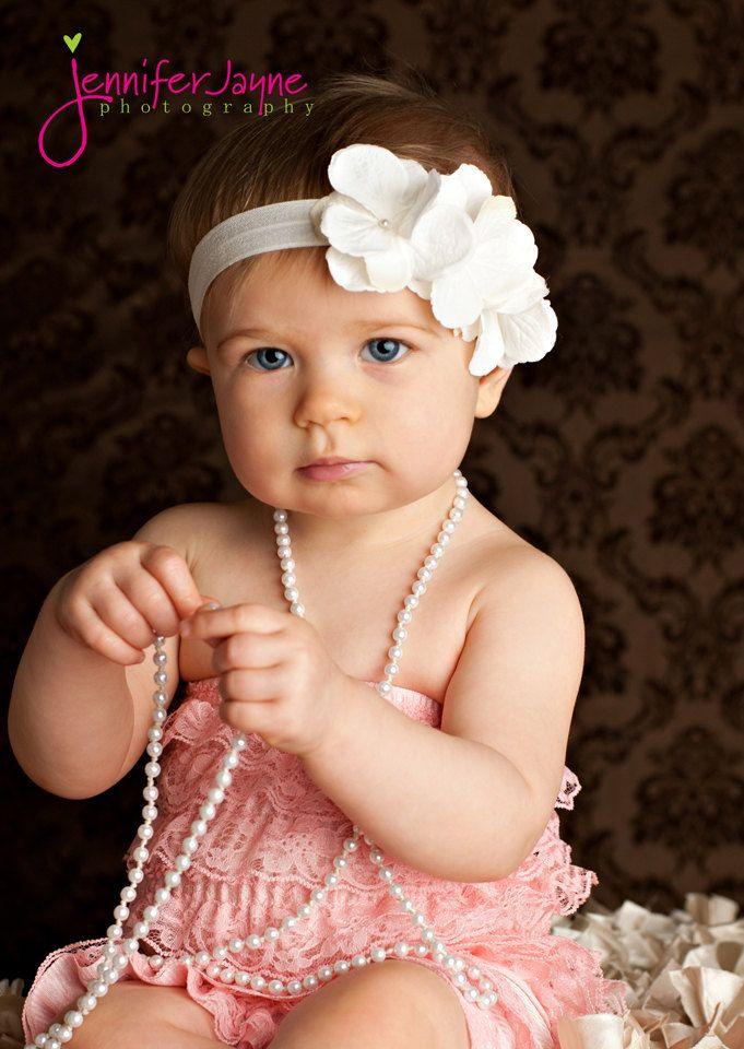 baptism headband, infant baptism headbands, christening headband, white baptism headband. $12.95, via Etsy.