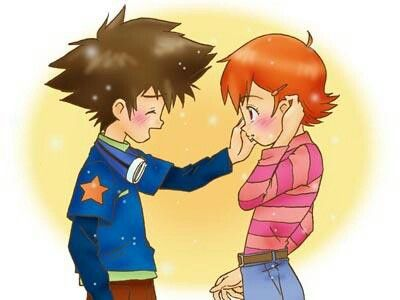 tai and sora relationship