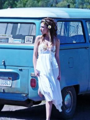 upcycled patchwork hippie sundress - reliving my youth  LOL!!