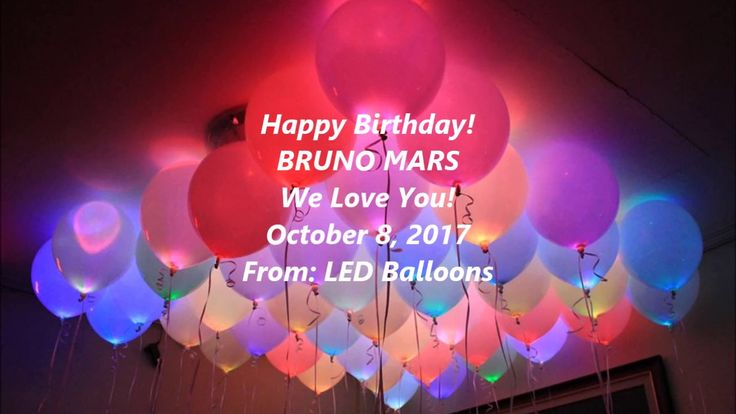 Bruno Mars - Happy Birthday! October 8, 2017