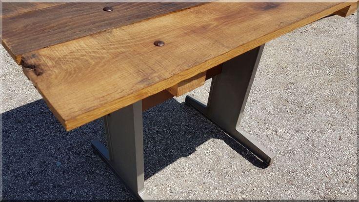 loft asztal bontott deszkákból