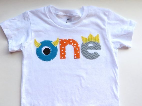 Monster Birthday Shirt First Boys By PatchesandPuppies