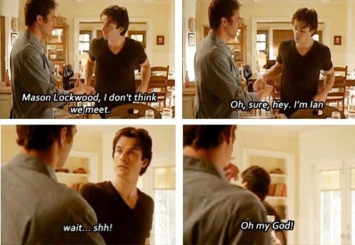 bloopers of season 2 / this made me laugh #TVD @Halle McClintock