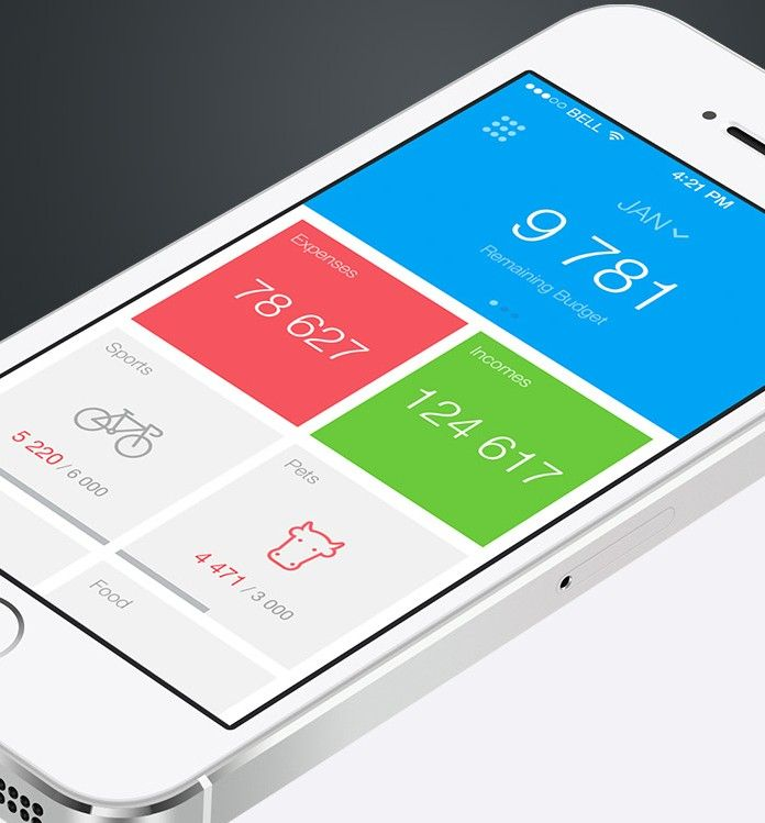 mobile app design inspiration spender - App Design Ideas