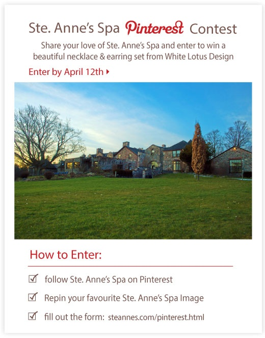 Pin to Win!  Find the form here: http://www.steannes.com/pinterest.html
