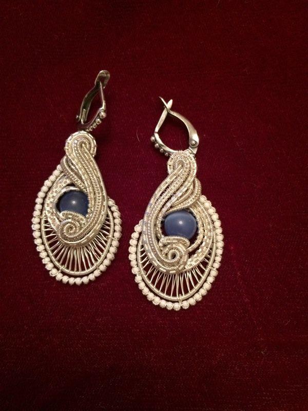 Купить Серьги ручной работы - украшения ручной работы, серебряные украшения, серьги, wire wrap