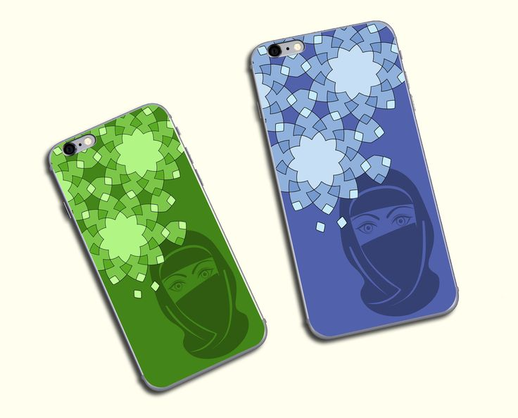 Phone cover with oriental motif (UV printing).