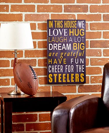 Steelers In this house wall decor