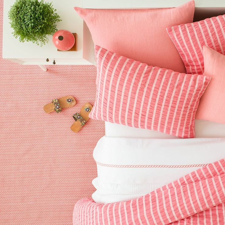 Parker Coral Bedding design by Pine Cone Hill