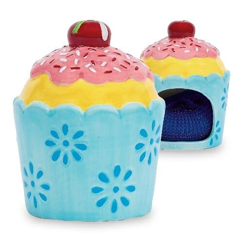 Cupcake kitchen sponge holder