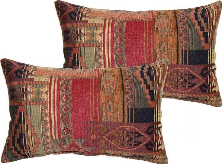 Decorative Throw Pillow Set Of Two Rectangular Polyester Fill Stylish Home Decor #throwpillow