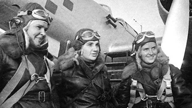 Pilots Polina Osipenko, Valentina Grizodubova, Marina Raskova