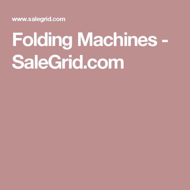 Folding Machines - SaleGrid.com