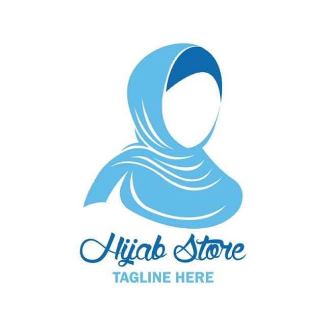 Hijab Logo With Text Space For Your Slogan Vector Illustration Hijab Logo Vector Logo Vector Illustration