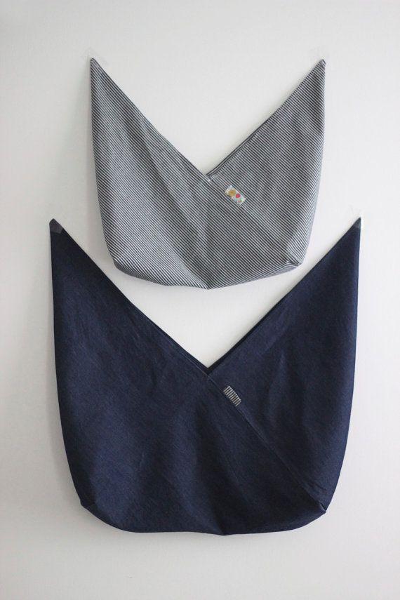 Medium Project Bag Knitting Bag Origami Bag Bento от sweetKM