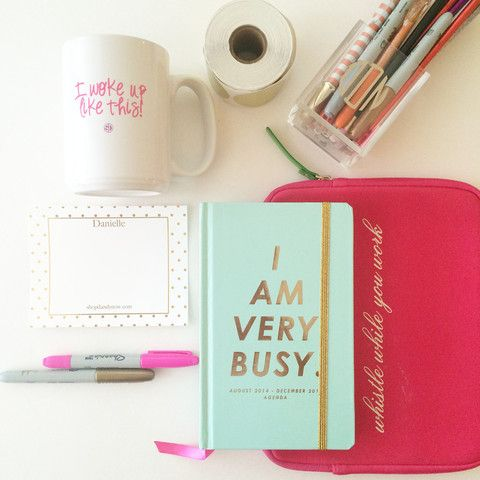 25 best ideas about cute office on pinterest cute office decor desk space and pink office - Girly office desk accessories ...