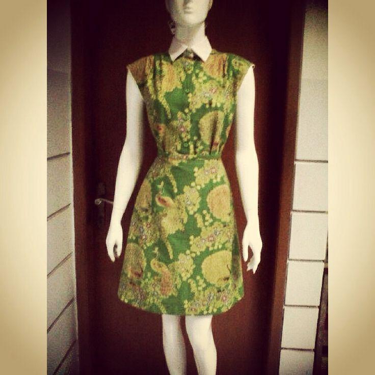 another green batik