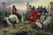 Vercingetorix throws down his arms at the feet of Julius Cae...  by Lionel Noel Royer