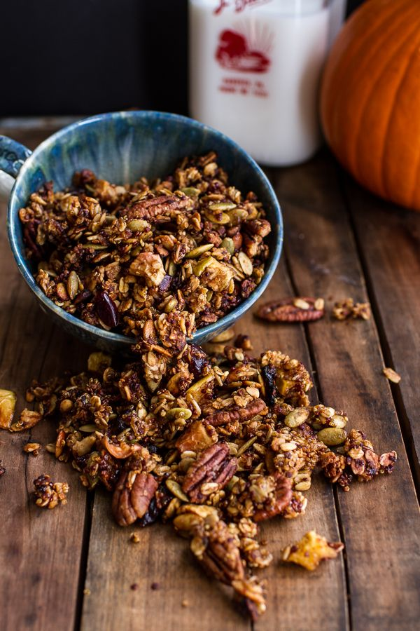 Brown Butter Pecan + Maple Quinoa Autumn Harvest Granola | halfbakedharvest.com @hbharvest