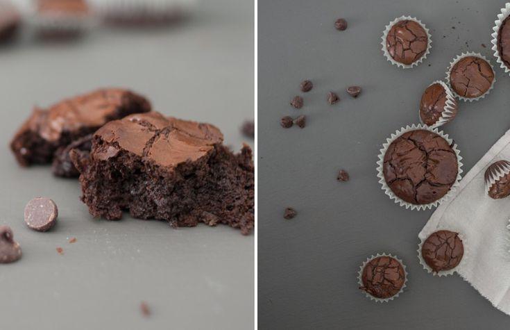 Flourless Brownie Cupcakes