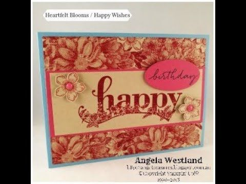 Heartfelt Blooms Background Stamp with Happy Wishes