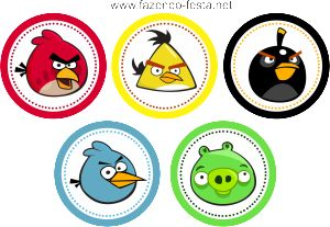 kit festa angry birds latinha