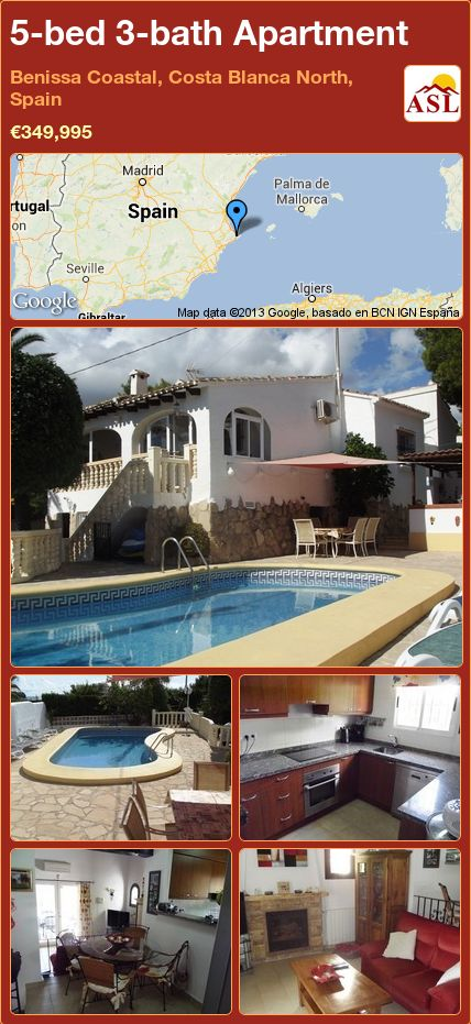 5-bed 3-bath Apartment in Benissa Coastal, Costa Blanca North, Spain ►€349,995 #PropertyForSaleInSpain