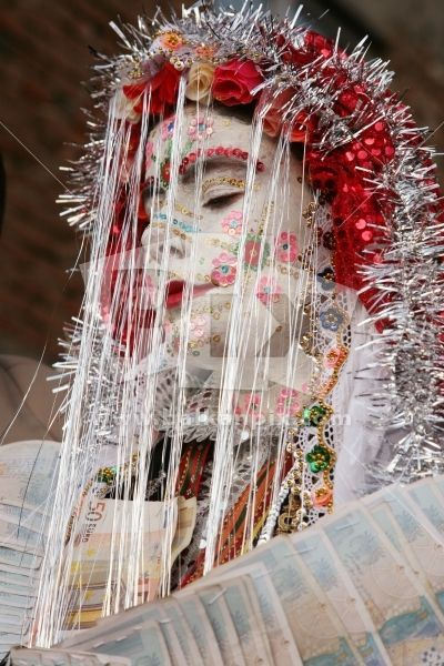 Pomak bride of the Rhodope Mountains, Bulgaria.  Perhaps what is most interesting of all local customs is the traditional Pomak wedding in t...