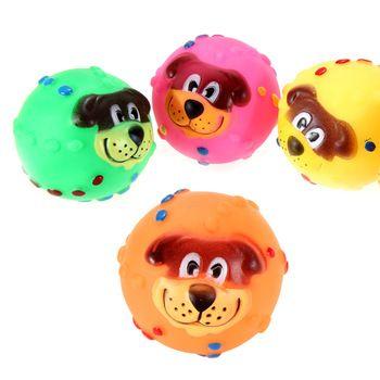Praktische weichgummi hund Gesicht Muster phonieren haustier spielen spielzeug Random farbe ocea #