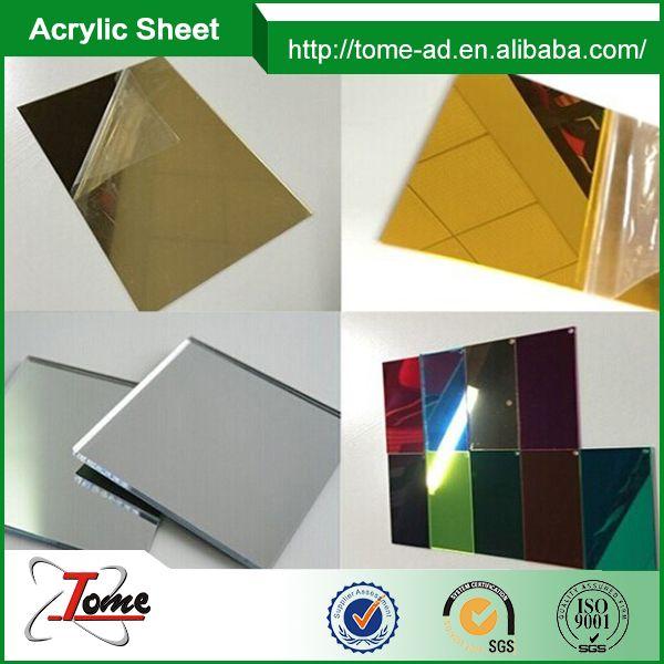 Gold Color Acrylic Mirror Sheet/Acrilic Plastic Mirror Sheet