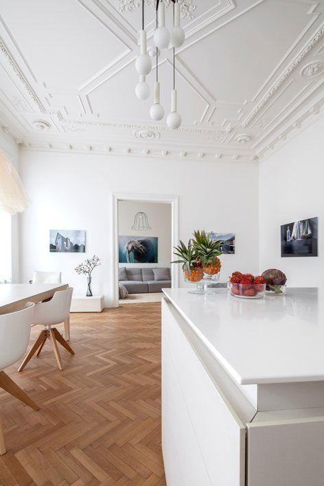 """The """"Apartment H+M"""" project comprises the restoration of a 130m2-apartment in a classic Viennese old building on the piano nobile of a house that was built at the turn of the century. It is located on Äußere Mariahilferstrasse..."""
