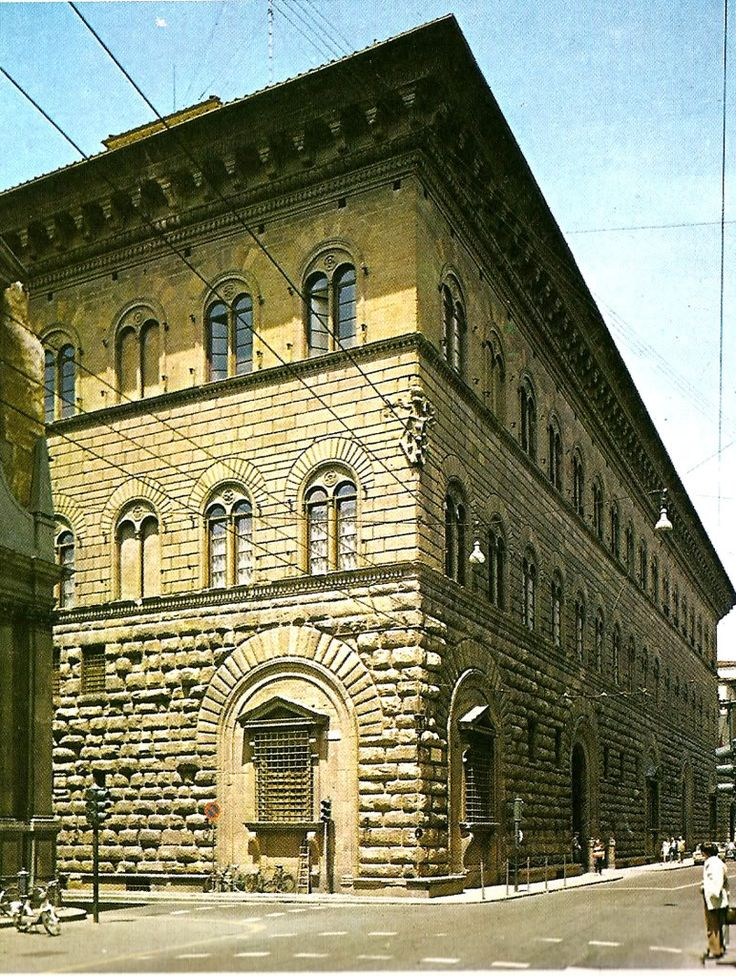 Palazzo Medici. Built as a home for Cosimo de Medici and his  successor Lorenzo de Medici.  It was also the home of young Catherine de Medici.  Florence, ITALY.