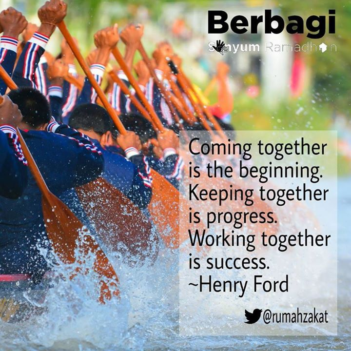 working together is succes