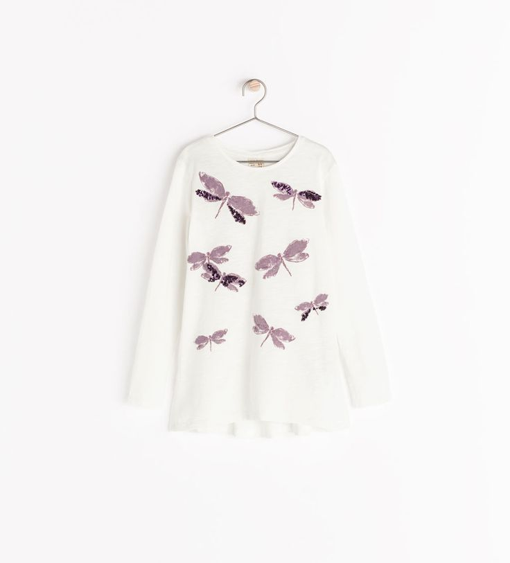 Image 1 of DRAGONFLY SEQUINED T-SHIRT from Zara