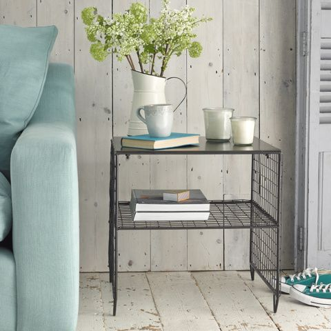 SMITHERS MINOR. Every bit as handsome as his big brother (Smithers Major), Smithers Minor has got that gunmetal-industrial-chic thing down to a fine art. #BounjourBlighty #sidetable #metal