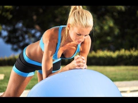 40 min Beginner Total Body Workout W/DB & Stability Ball (Voice Over included) - YouTube