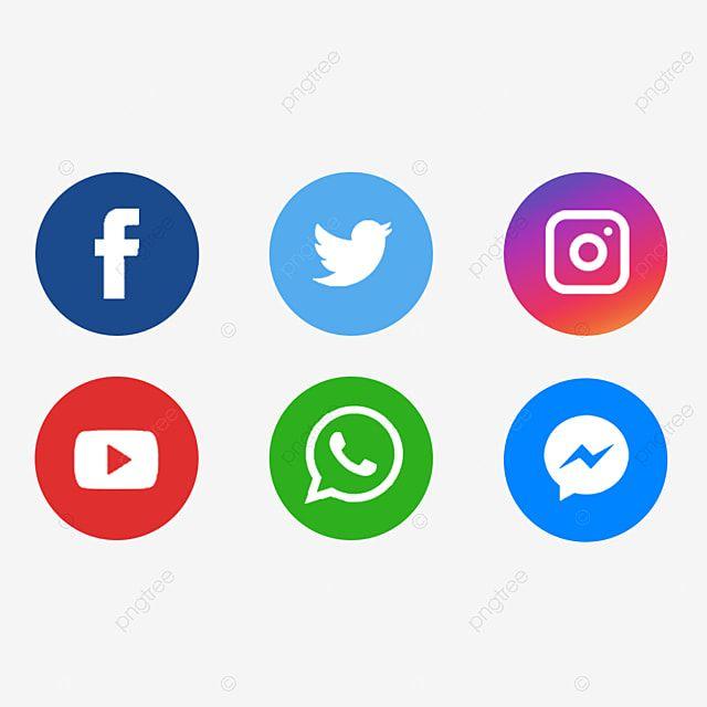 Icones De Midia Social Clipart De Midia Social Midia Social Logotipo De Midia Social Imagem Png E Psd Para Download Gratuito Logo Keren Bendera Desain Logo