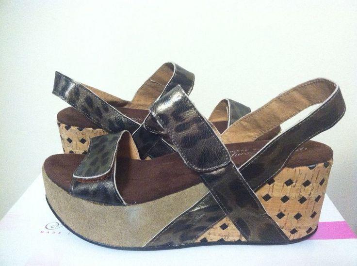 Helle Comfort Kabala Brown Serval Women's Wedge Heels Sandals 36 / 5 M