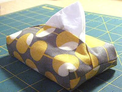make a fabric tissue case with finished corners — insatiable need