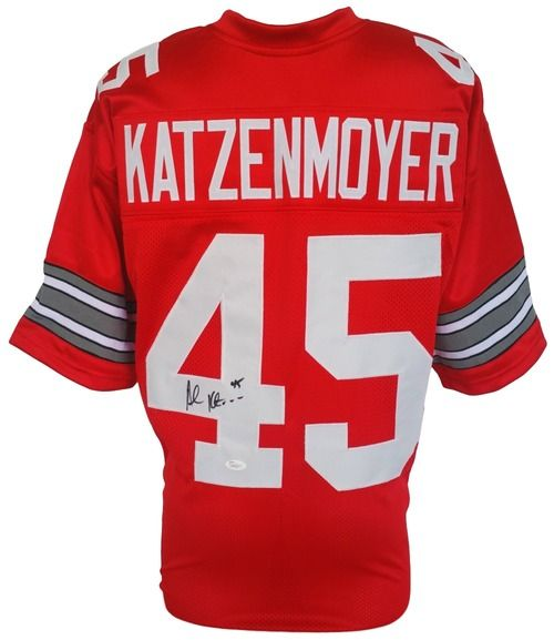 Andy Katzenmoyer Signed Custom Red College Football Jersey JSA