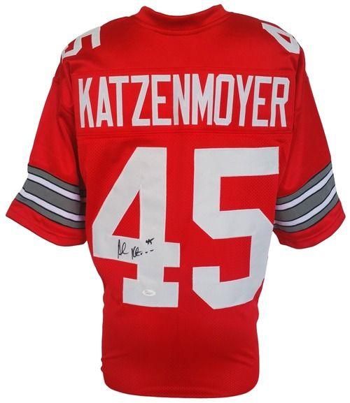 Andy Katzenmoyer Signed Custom Red College Football Jersey JSA