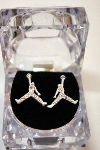 mobeddzz's save of Air Michael Jordan White Matte Color Earring Cz: Jewelry: Amazon.com on Wanelo