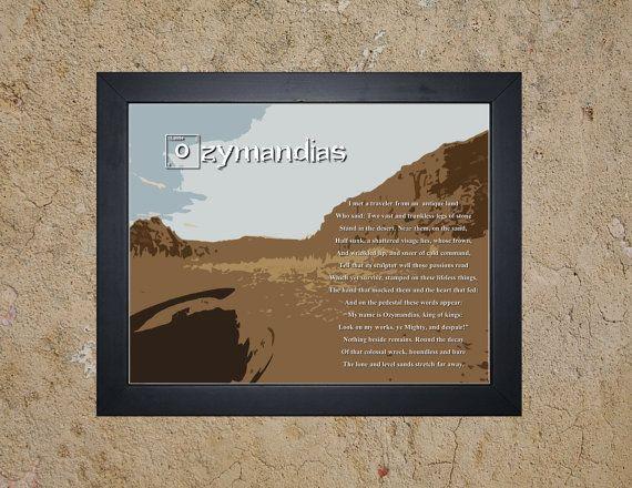 Breaking Bad Ozymandias Poem Sonnet by YouAreHERECustomMaps, $0.99