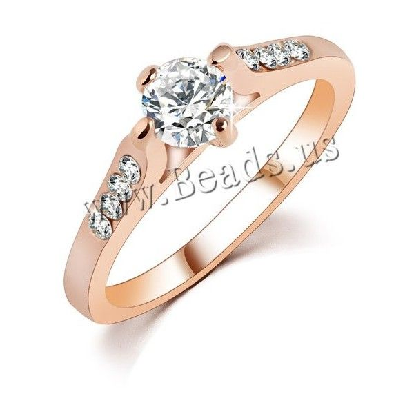 Zinc Alloy Finger Ring, real rose gold plated, different size for... (17 HKD) via Polyvore featuring jewelry and rings