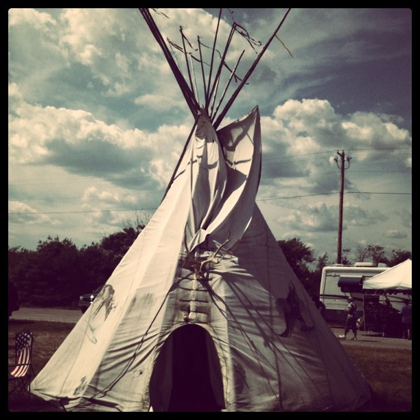 Powwow teepee, via Flickr.